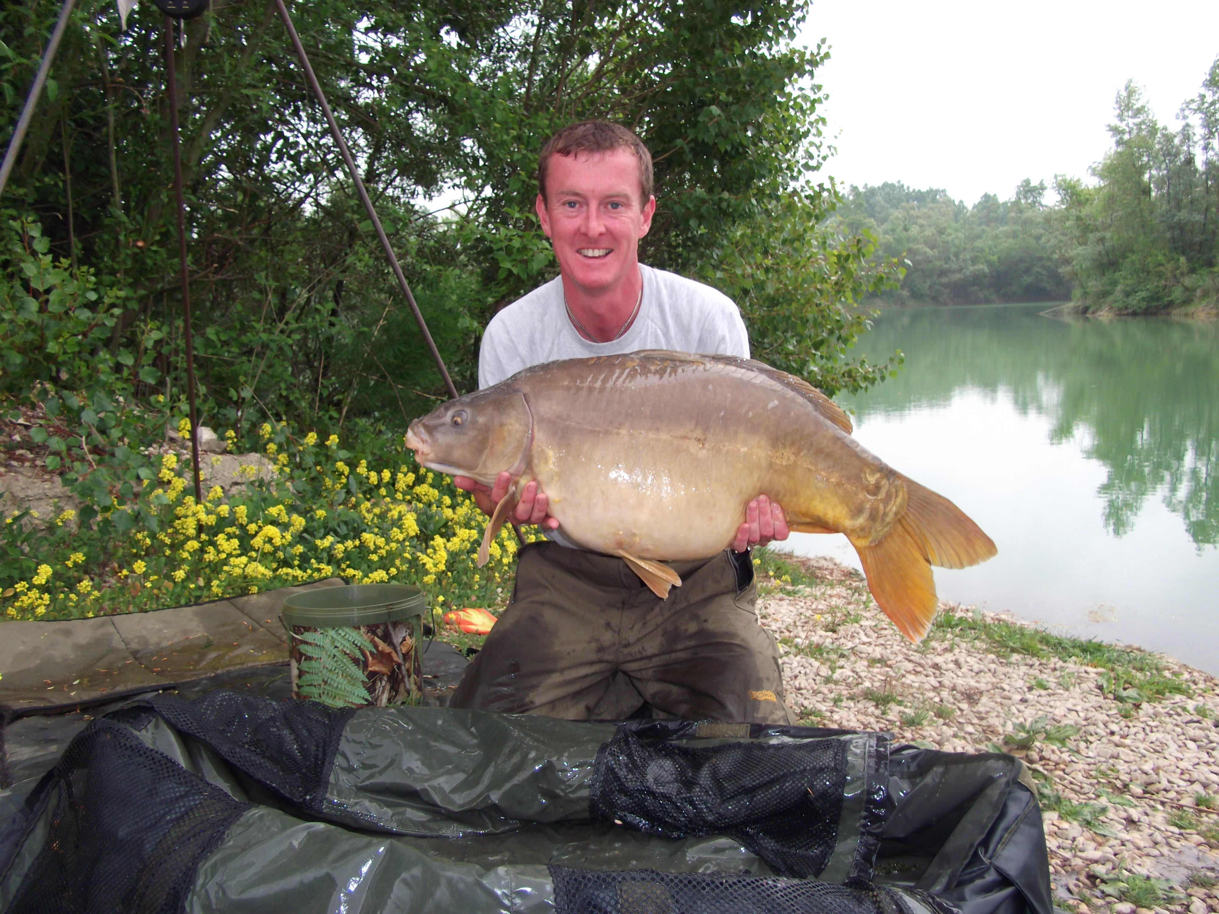 Steves 34lb 3oz  using AS Baits -  FEC Mix from Poachers