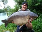 Baz s 56lb 8oz  using Bill's Lake Specials from Bench
