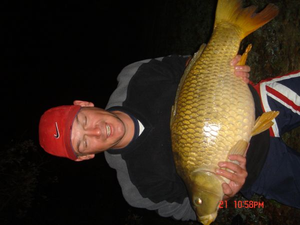 Rubber Lawrences 23lb 8oz  using tiger nut/ pineapple from bomb hole