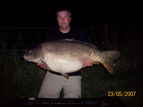 Jason Thwaitss 54lb  using Fruity Crab from Treetops
