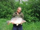 Carp Clarks 39lb 8oz  using Black crab fruit from Bench